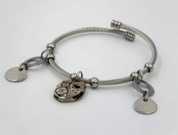 Bracelet inox tressé 2