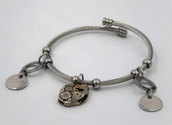Bracelet inox tressé