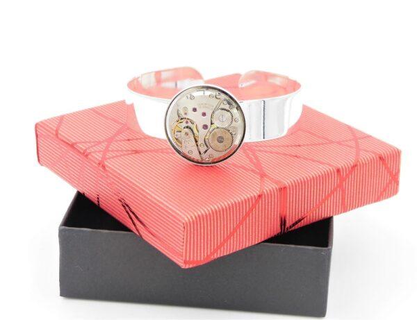 Bracelet manchette femme argent 3
