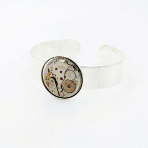 Bracelet manchette femme argent