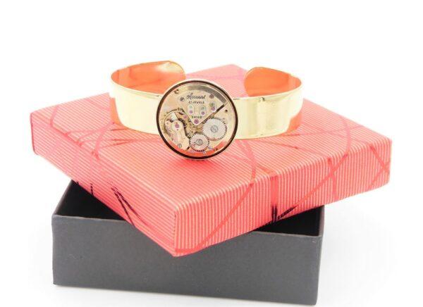 Bracelet manchette femme or